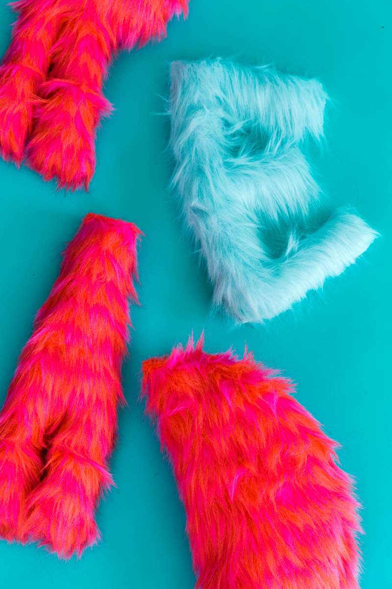 New-Sew Faux Fur Pillows