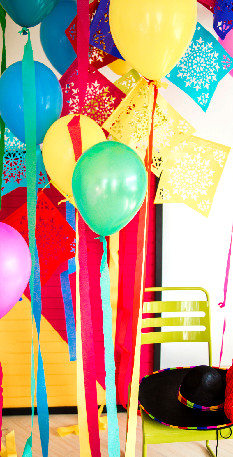 Colorful DIY Fiesta Party Decorations