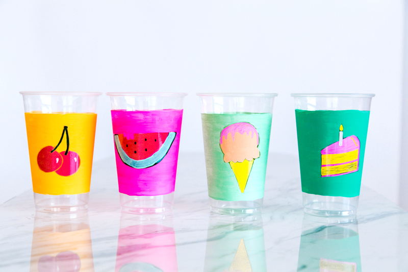 Painted Picnic Cups
