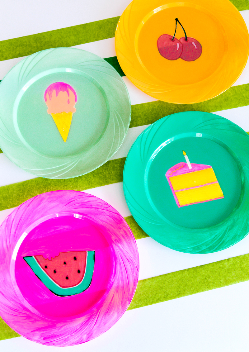 Painted Picnic Plates