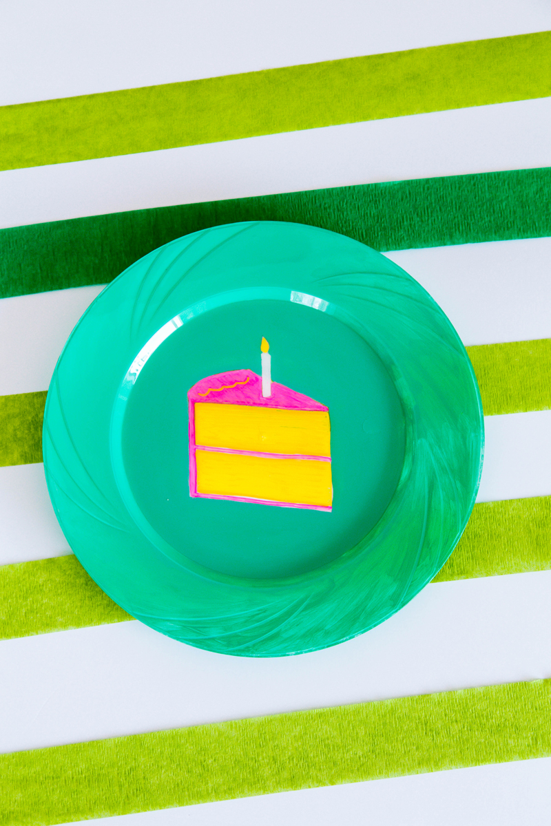 Painted Picnic Plate - Birthday Plates