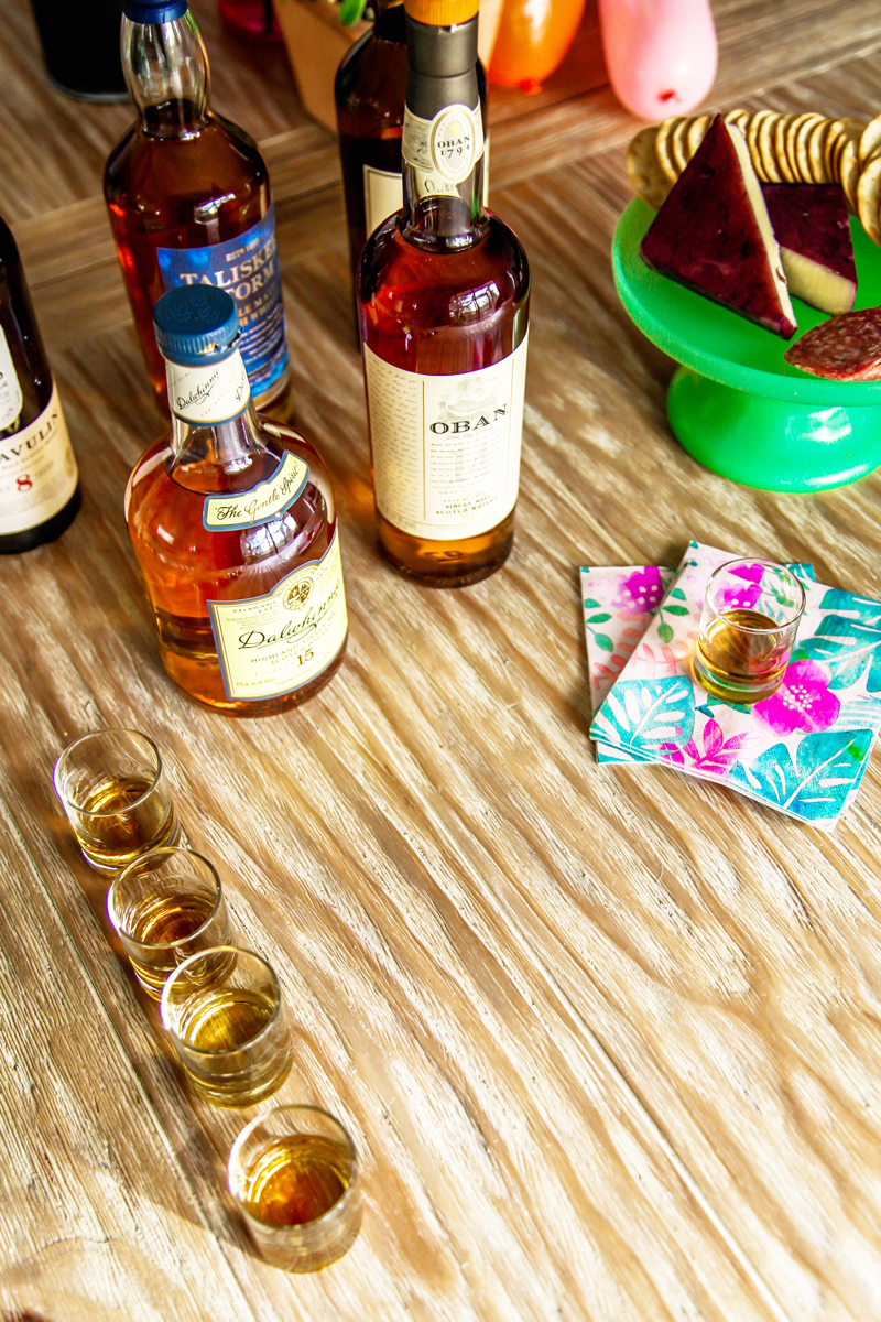 Host a whiskey tasting party