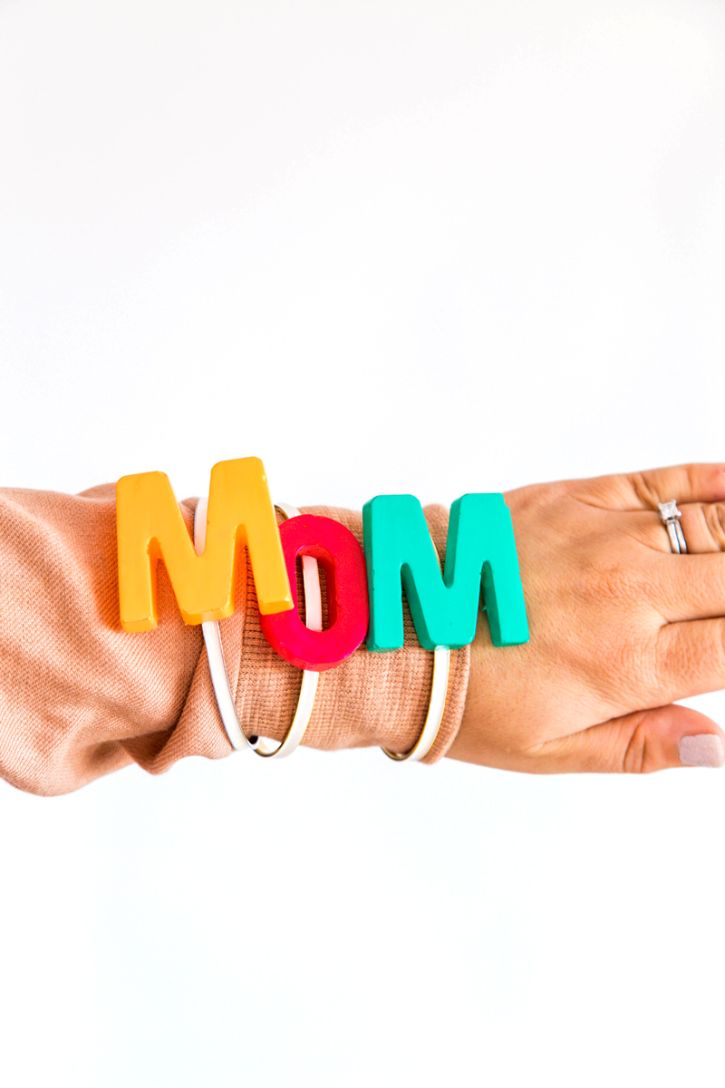 DIY MOM statement bangle