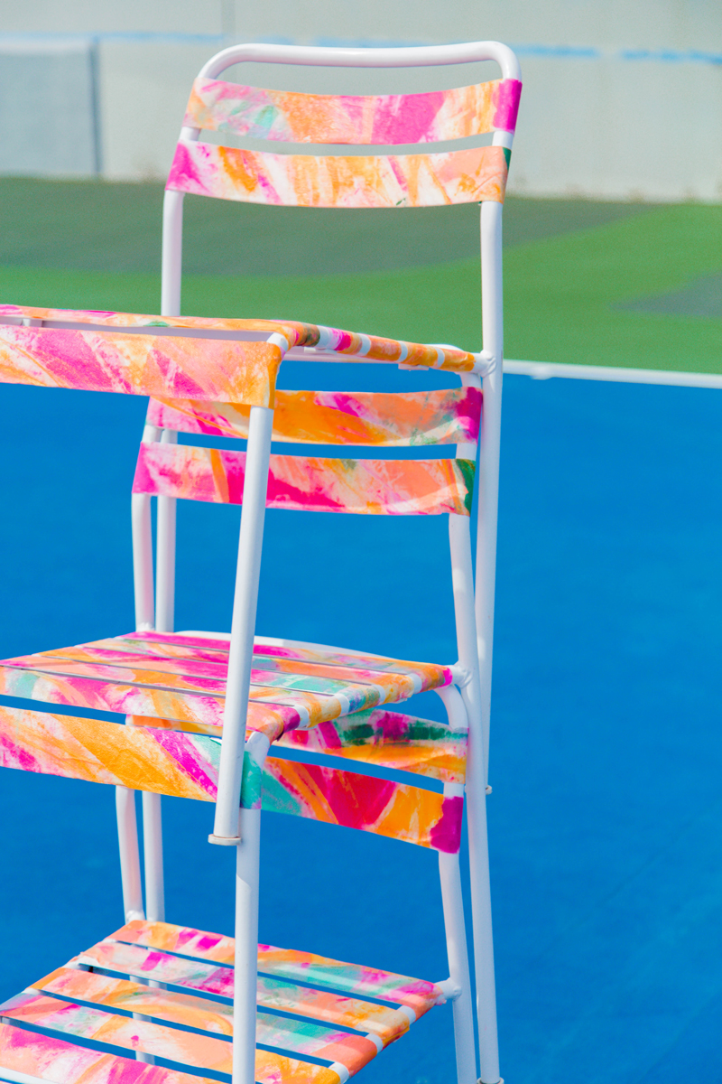 watercolor ikea chair hack