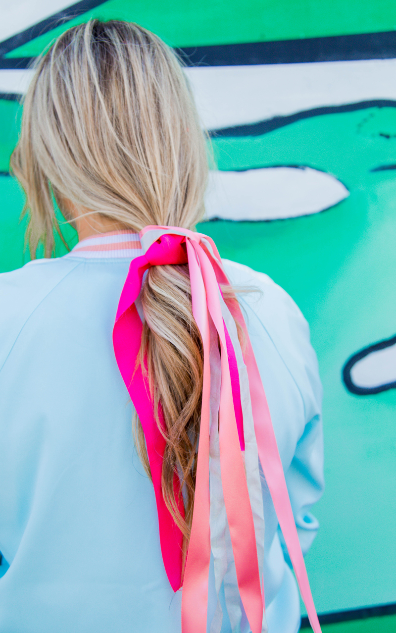 Ribbon hair tie
