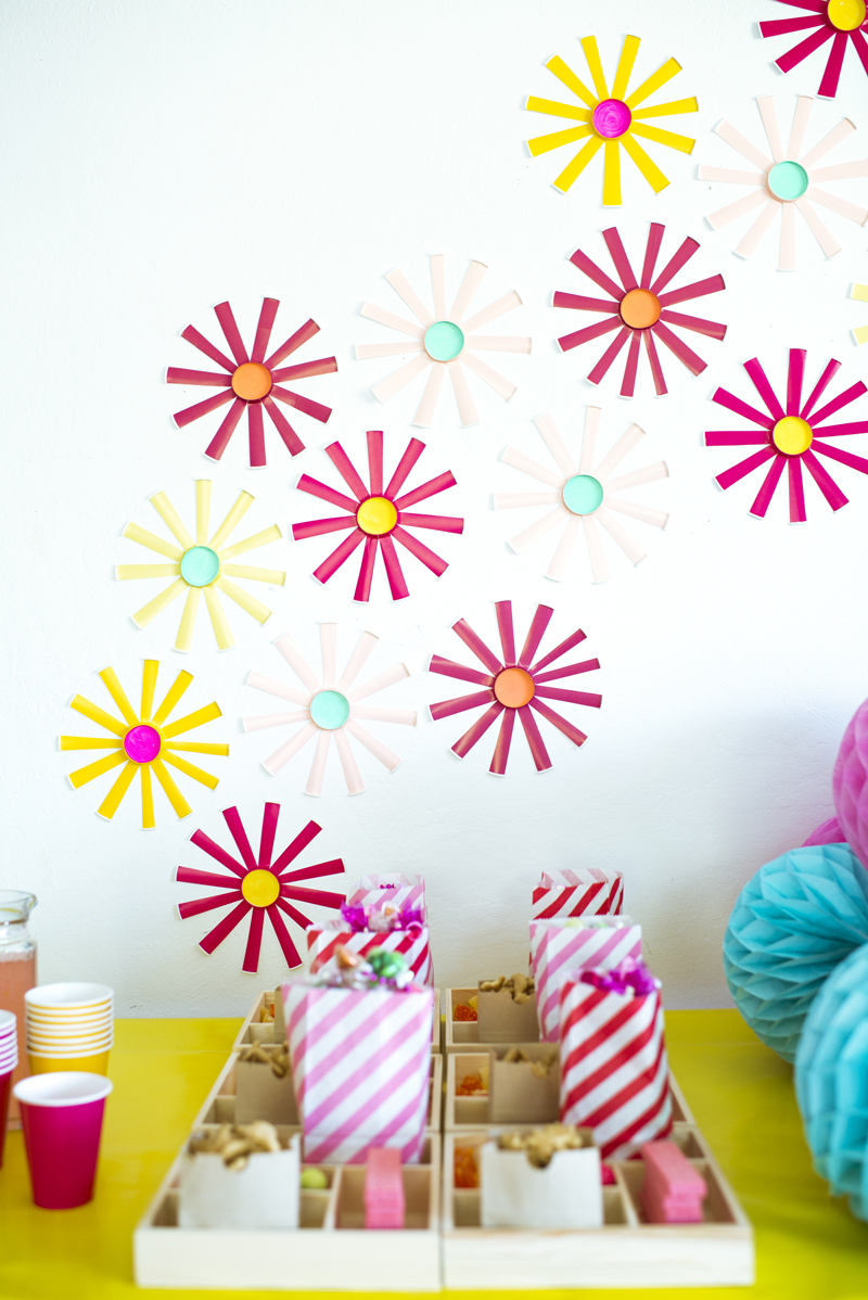 A paper party paper cup wall flowers a subtle revelry to make a party that is bright and colorful we created a wall of flowers out of paper cups they are the easiest things to make and bring a massive design mightylinksfo