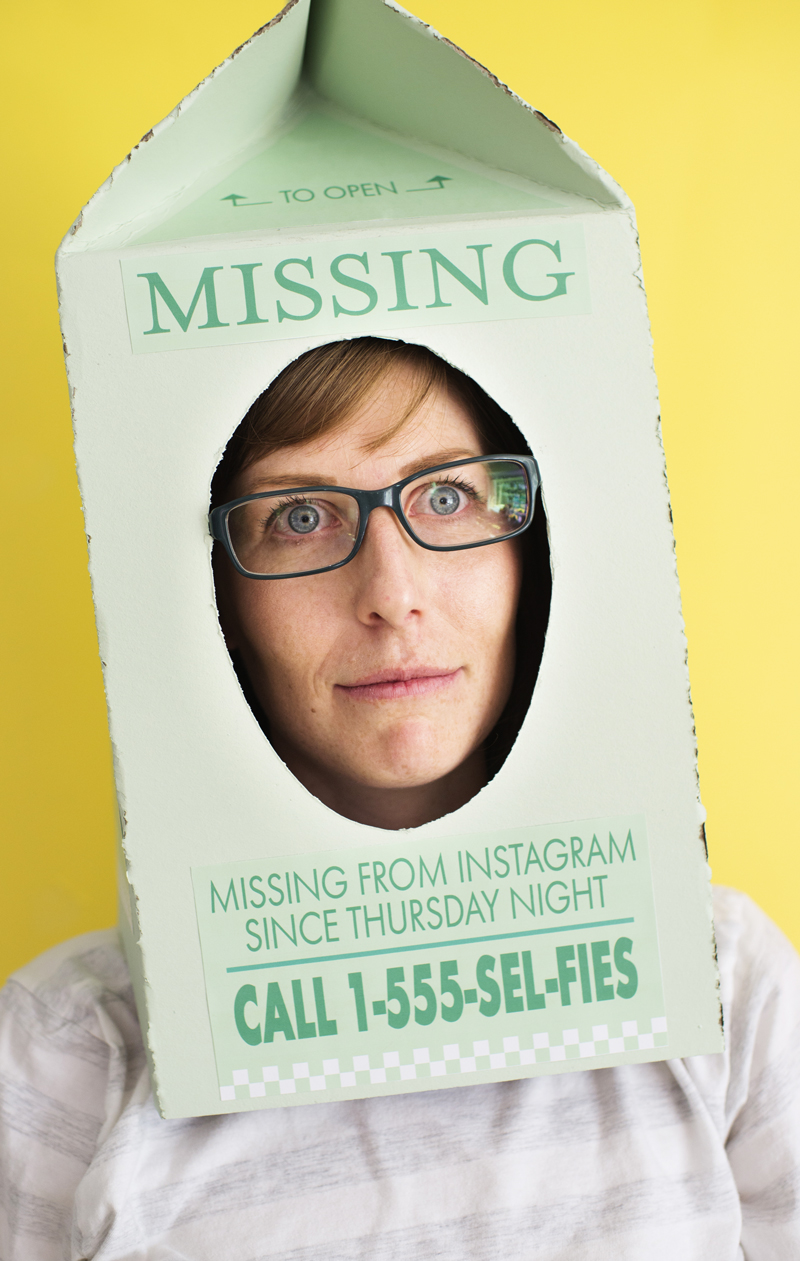 missing milk carton DIY Halloween costume for moms