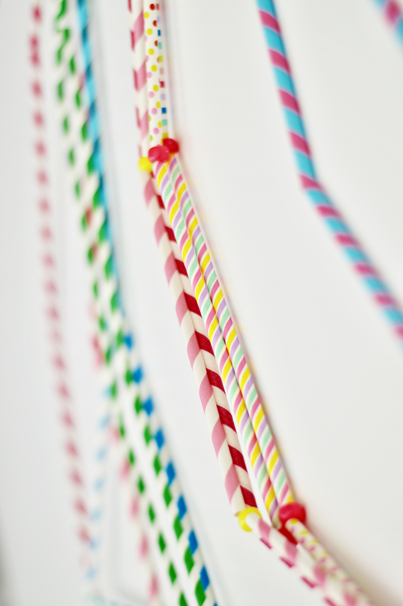 DIY Straw Garland