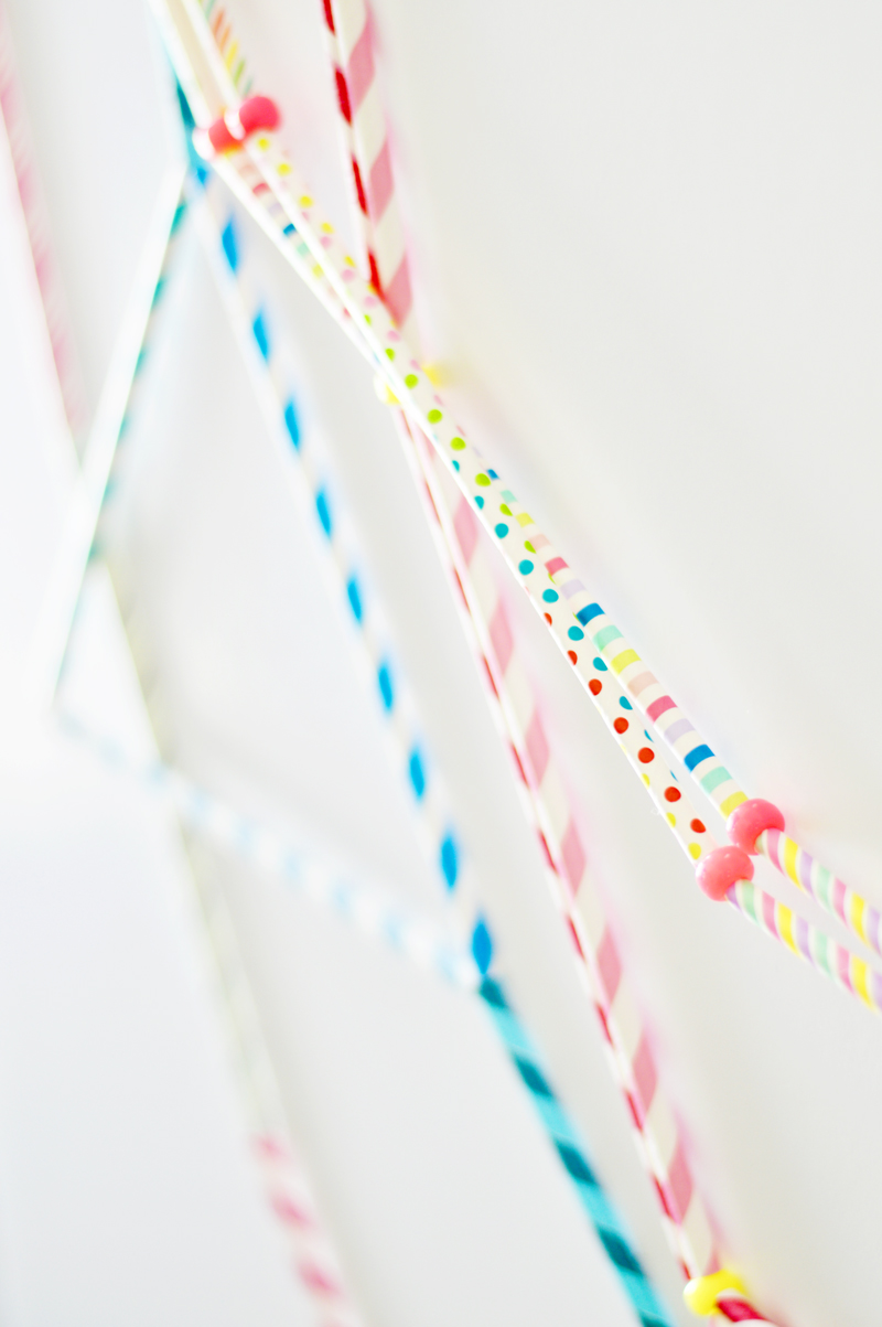 triangle straw garland