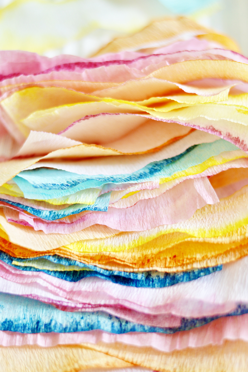 Dip Dye Crepe Paper Streamers A Subtle Revelry