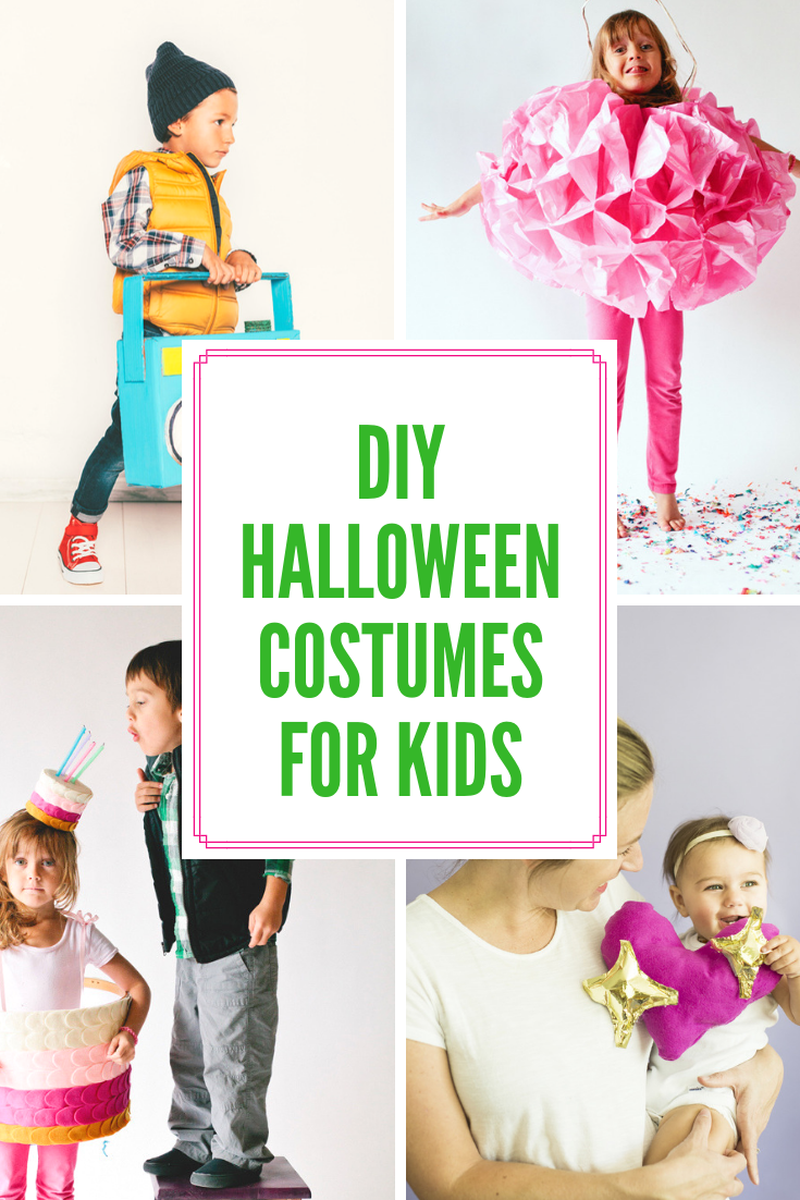 DIY Halloween Costumes For Kids - everything cute and easy to make!