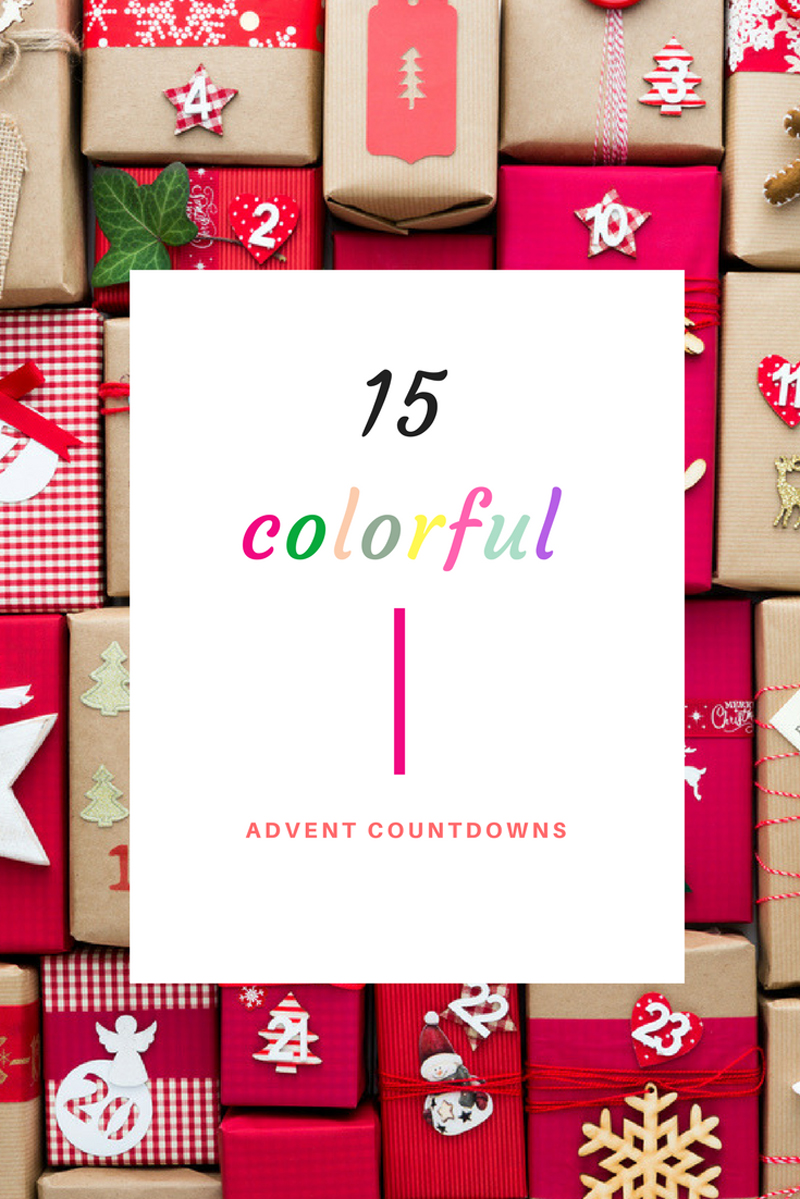 15 Colorful Advent Countdowns