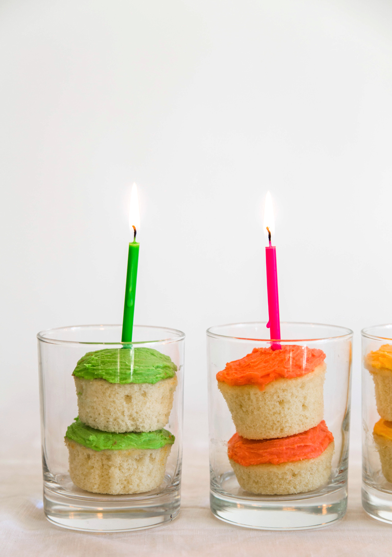 making floats with soda cupcakes for birthday parties