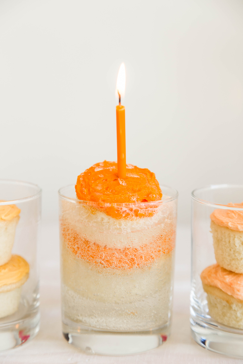 making floats with soda cupcakes for your party