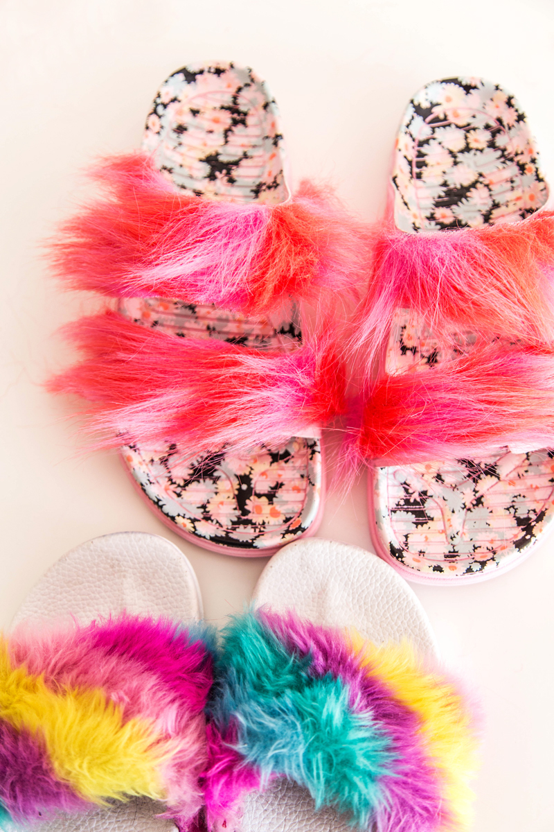 how to make fuzzy sandals