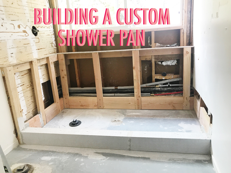 how to build a custom shower