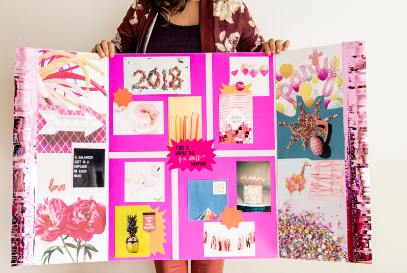 how to make a vision board for 2018