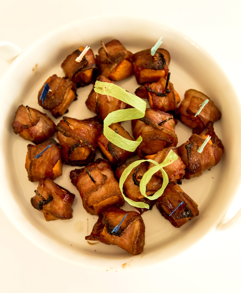 Bacon Wrapped Squash Bites
