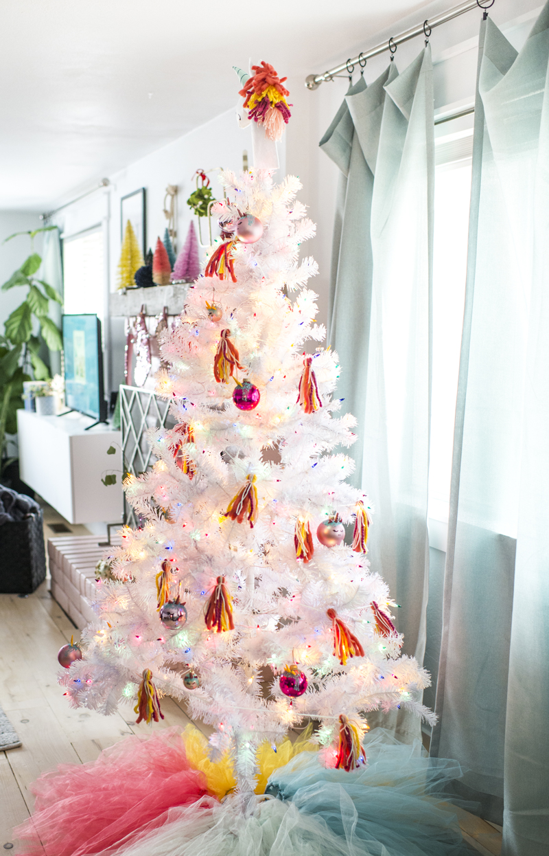 hang it all up on the tree for a whimsical way to decorate any space happy decorating - Unicorn Christmas Decorations
