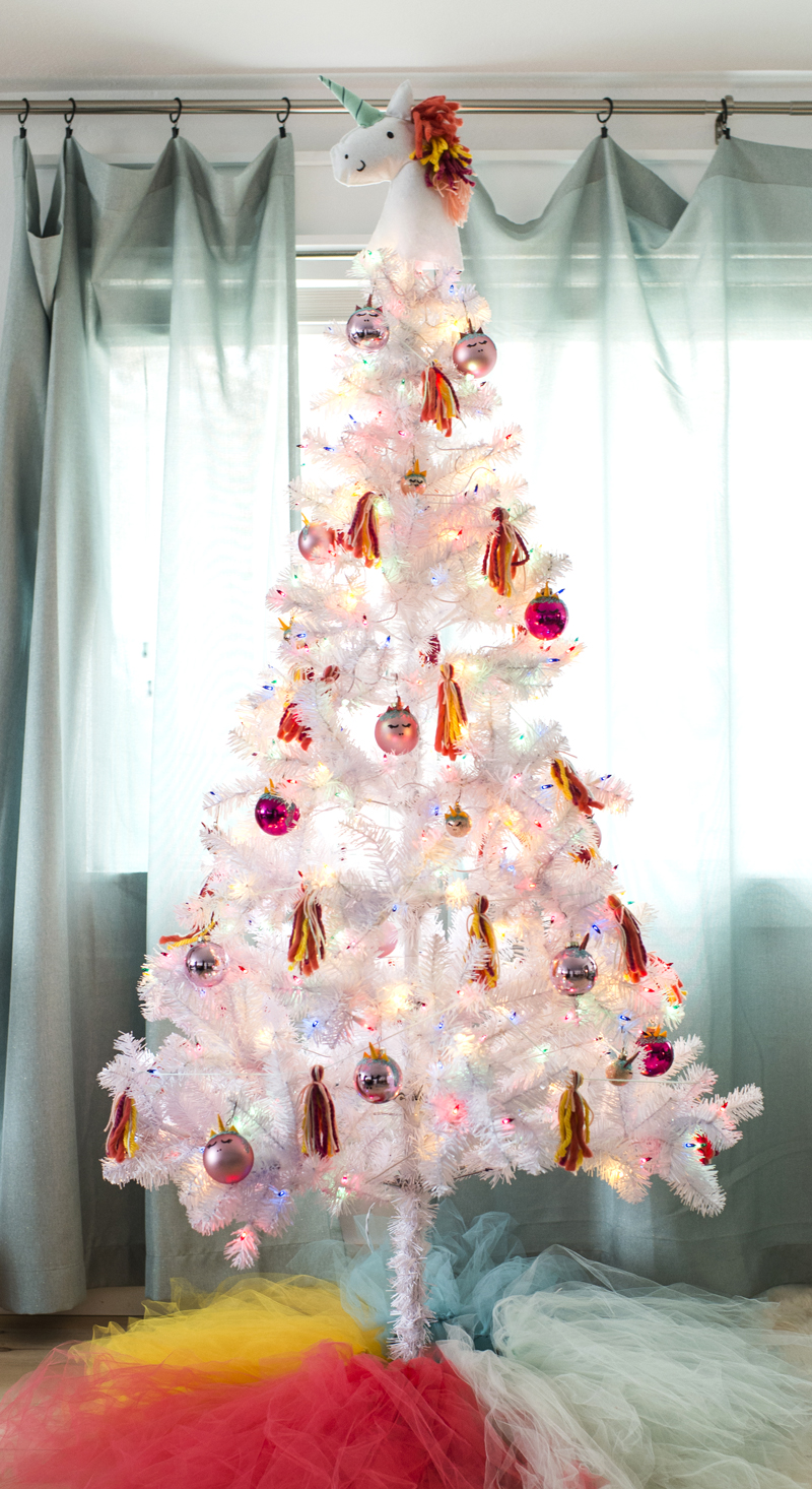 Colorful White Christmas Tree