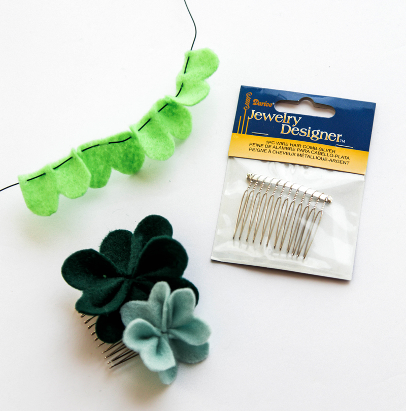 Shamrock Hair Pin