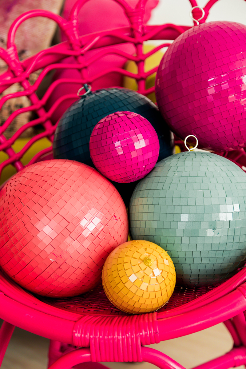 painted walmart disco balls