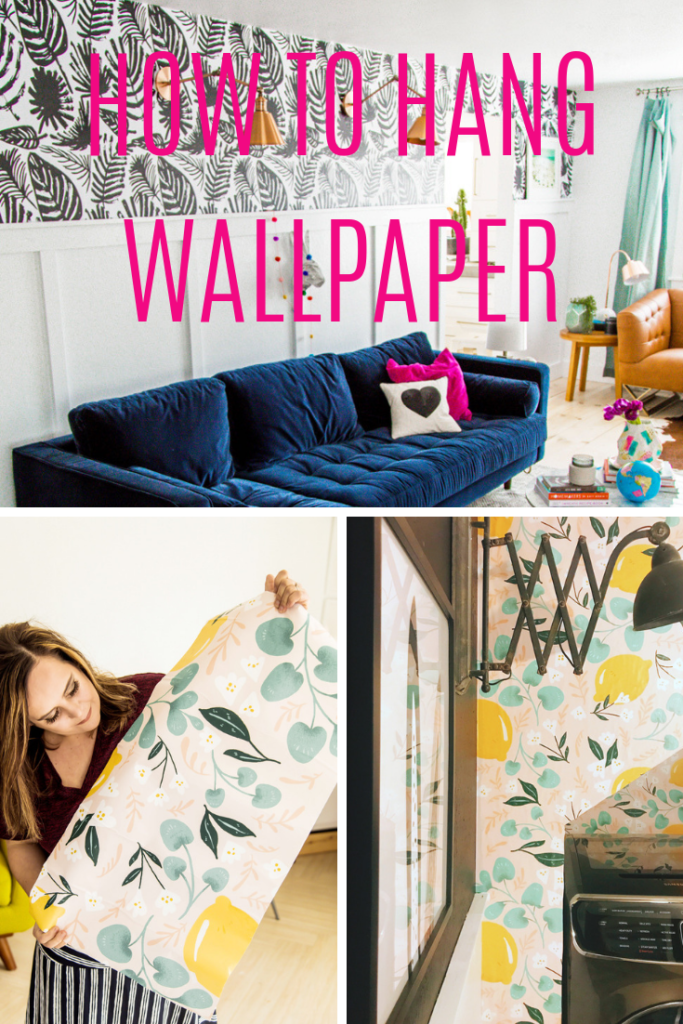 How to hang wall paper