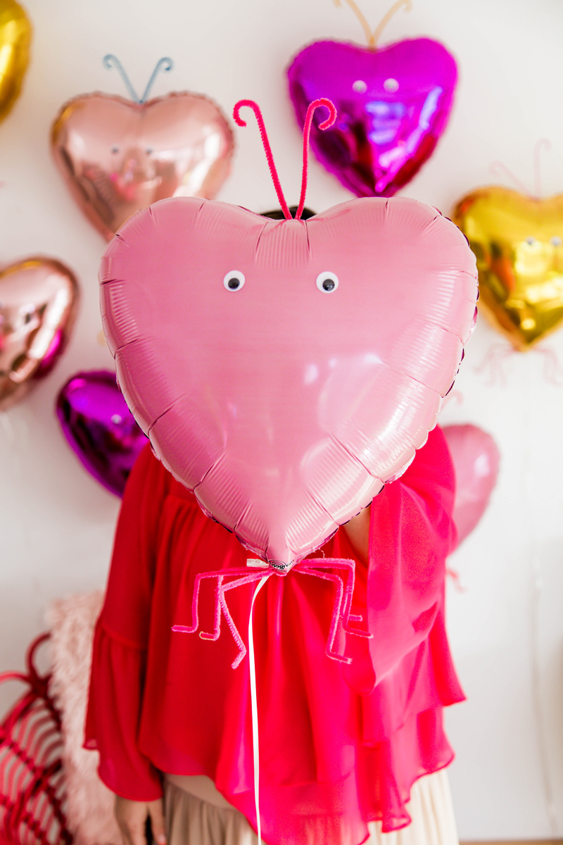 Valentines Day Decor with balloons