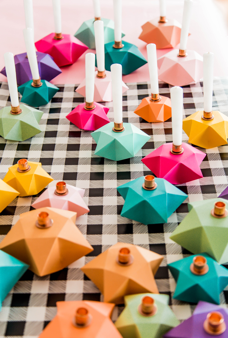 diy candle holders with origami stars  u2022 a subtle revelry