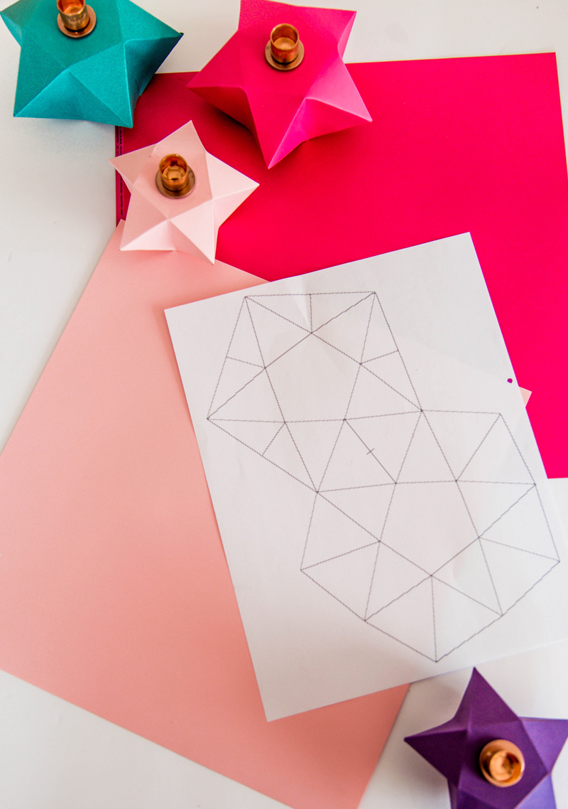 Origami Star DIY Candle holders