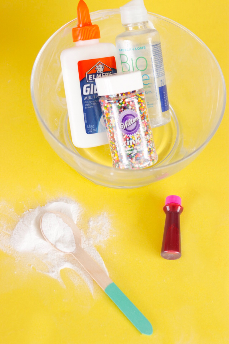 Bubble Gum Slime Ingredients