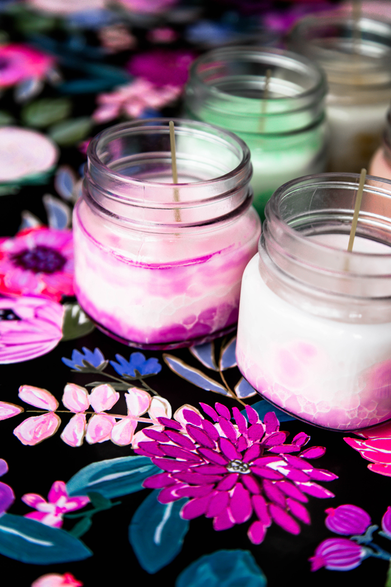 Homemade essential oils candles