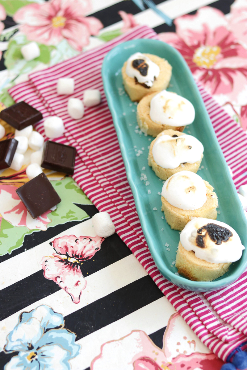 Caramel Sea Salt Smores Cups