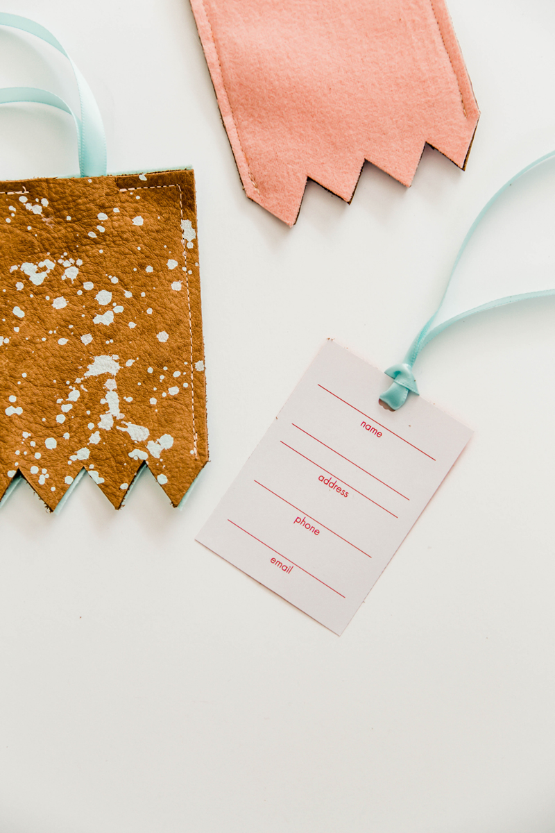 DIY Luggage Tag Template