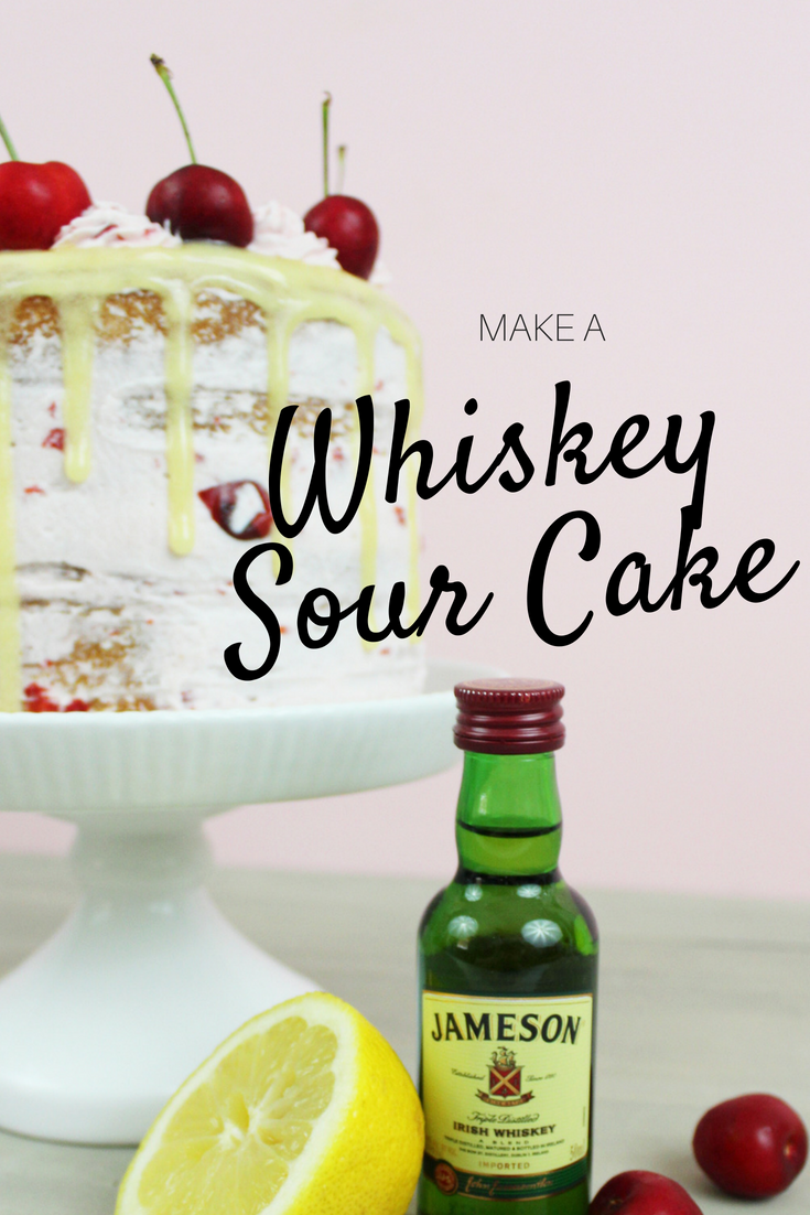 Whiskey Cake With A Sour Twist