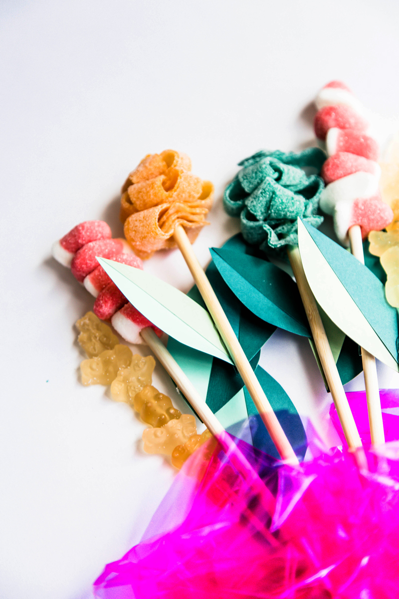 DIY candy bouquet