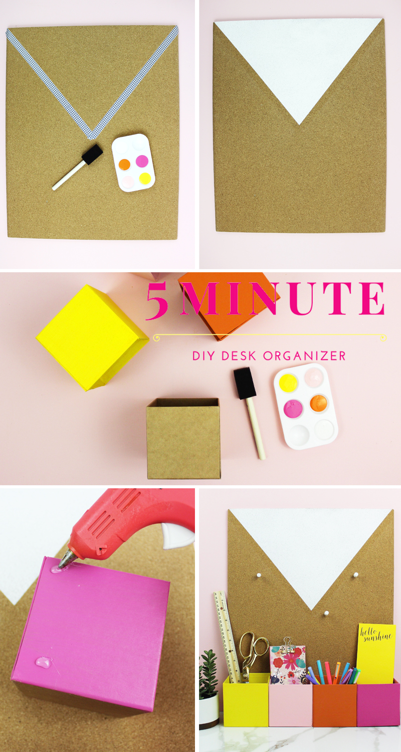 5 minute DIY Desk Organizer