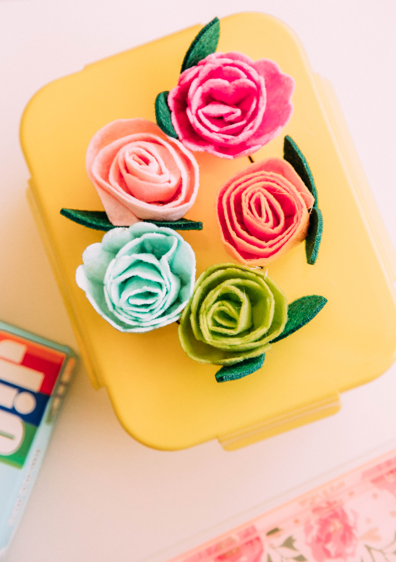 DIY flower lunch box