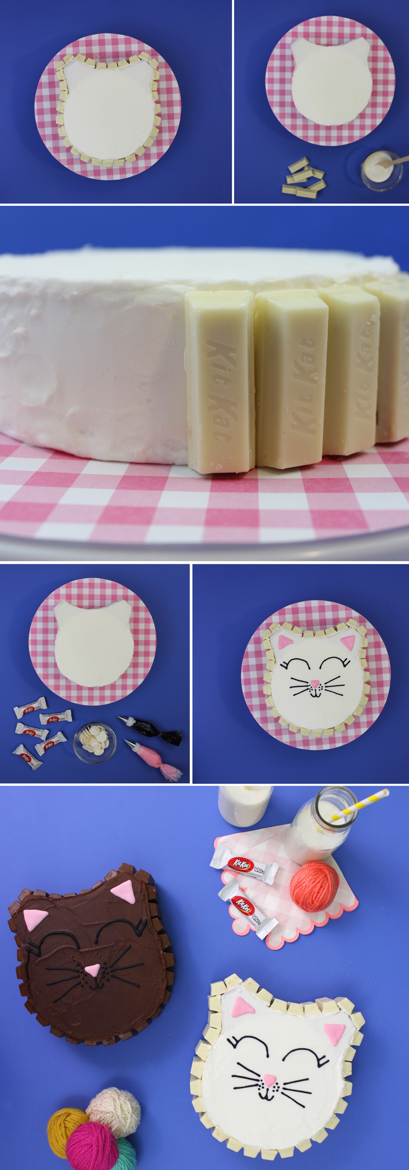 Kit Kat Cake Step by Step Instructions