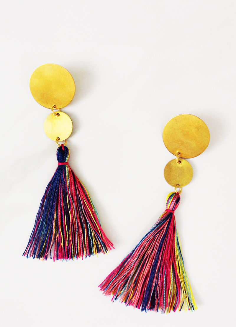 DIY multi-color earrings