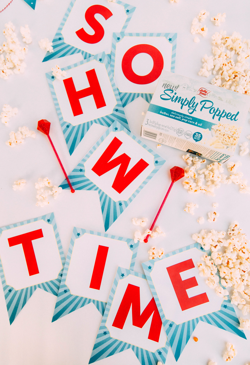 movie night printable decorations