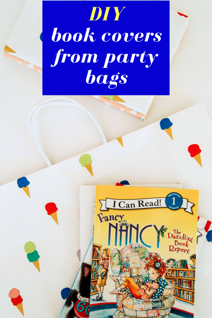 Make DIY book covers from party bags