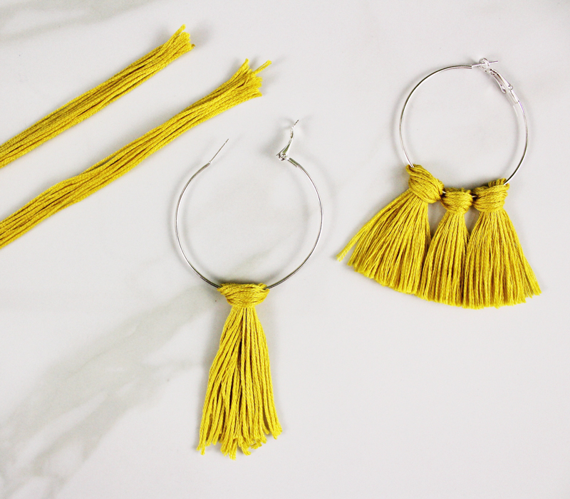 DIY tassel earrings materials