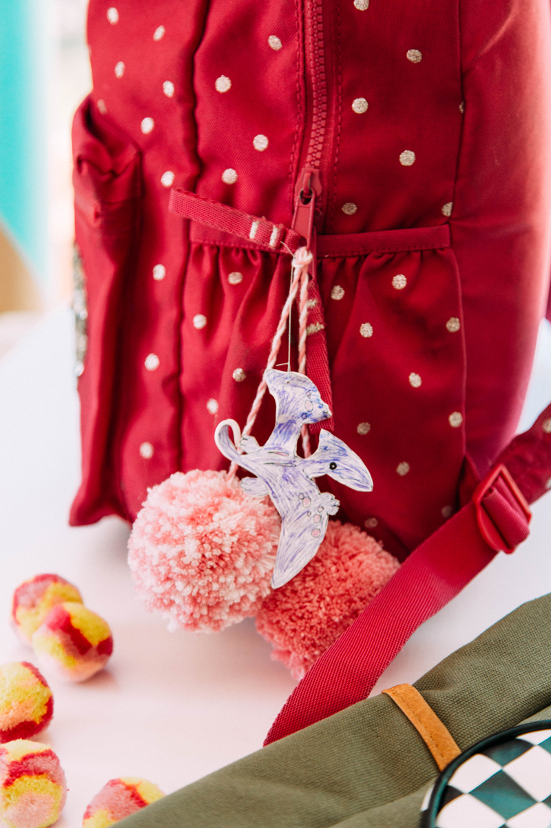 DIY backpack charms