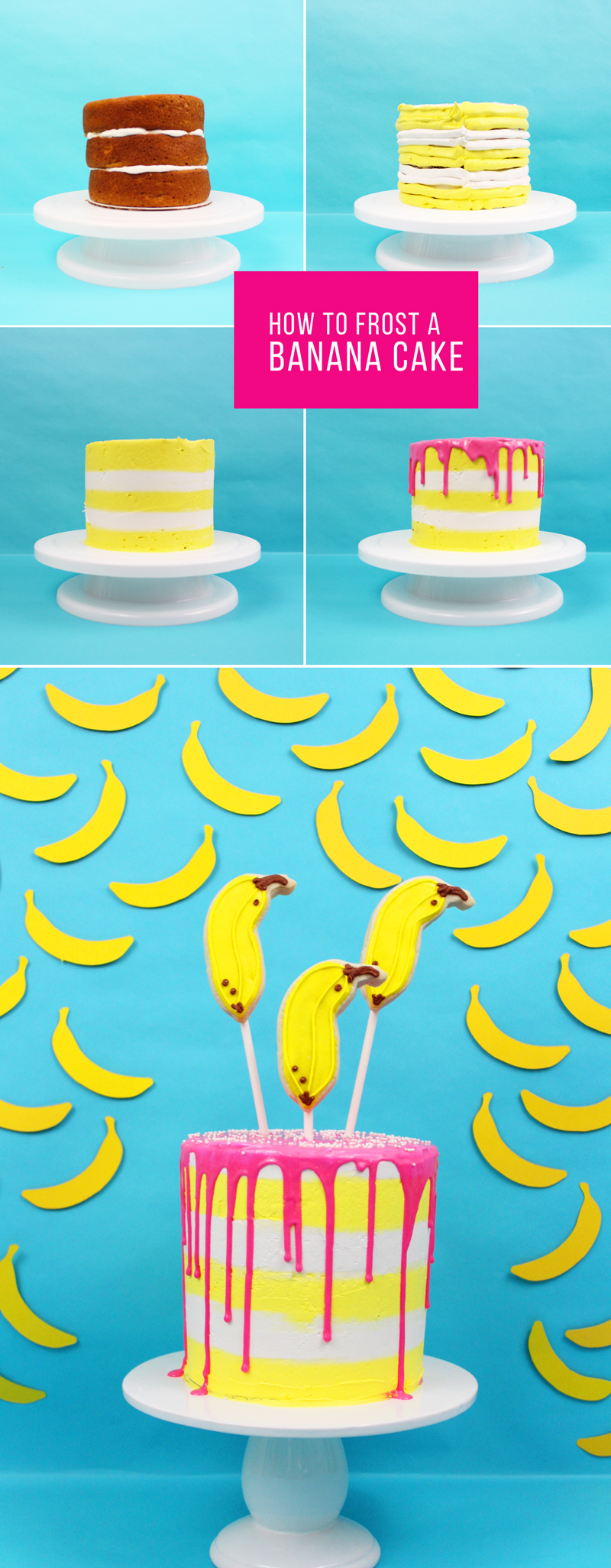 How to make & frost a banana cake