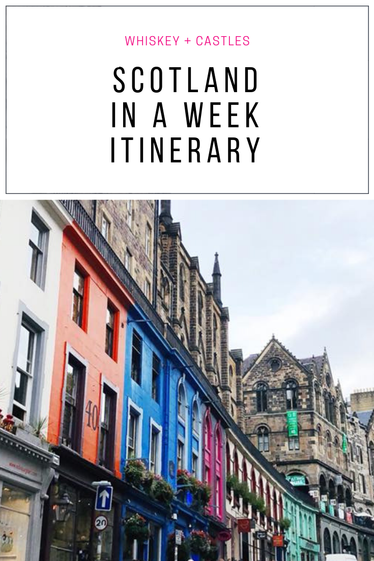 Whiskey Castle Scotland Itinerary for a week