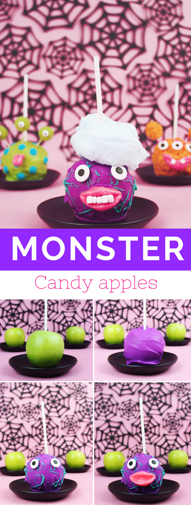 Make these monster candy apples