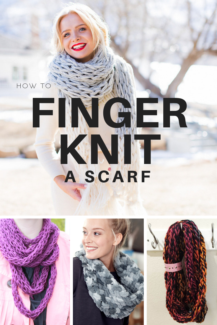 How to finger knit a scarf 3 easy ways