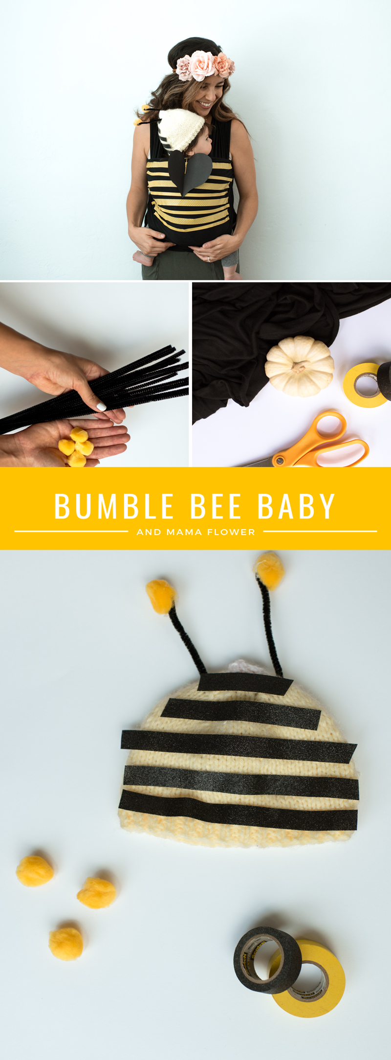 bee costume DIY for baby step by step