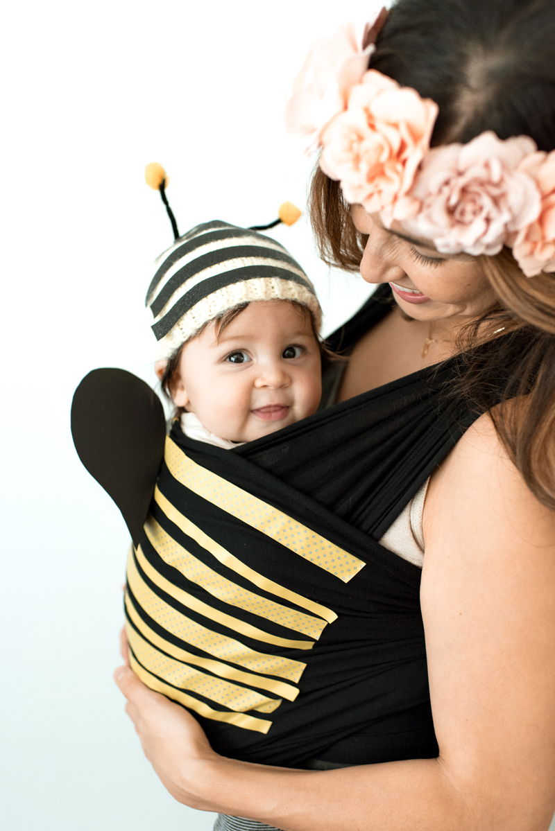Mom and baby costume idea - bumble bee and a flower